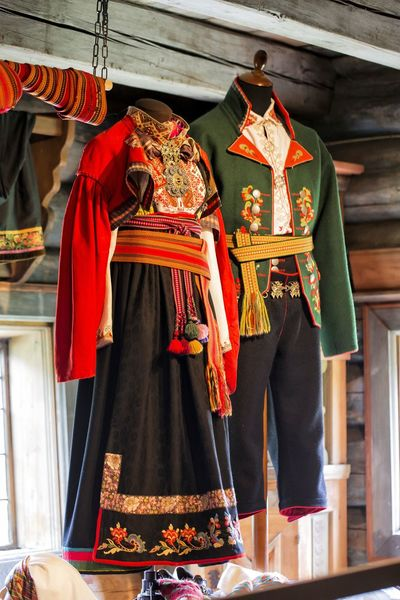Norway Art Clothes Handmade National Costume Telemark Textile Traditional