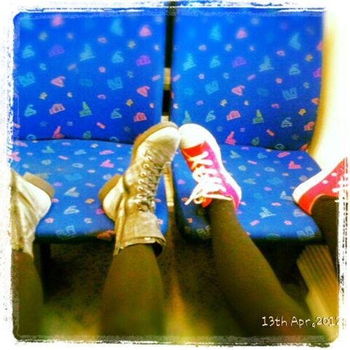 After half day walking around and small shopping in Stockholm, this is how we sit in the train on our way home. @2wenty5ive Pendelt åg Stockholm