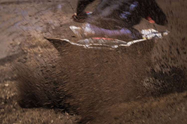 Motion Nature High Angle View Blurred Motion Day No People Outdoors Mammal Dirt Water Land Agriculture Livestock Domestic Animals Running One Animal Close-up Dust