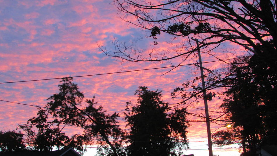 Beautiful Morning Sky !!!! 😃 Bright Colors Up Early Before The Sreetlights Are Off From The PorchCadillac Pure Michigan