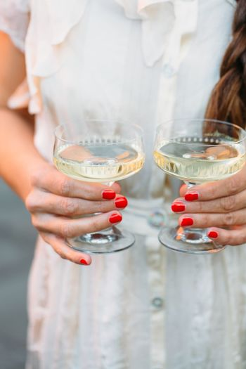 Champagne toast with two glasses Sekt Champagne EyeEm Selects Drink Cocktail Refreshment Holding Drinking Alcohol Drinking Glass Women Human Body Part Food And Drink Human Hand Celebration