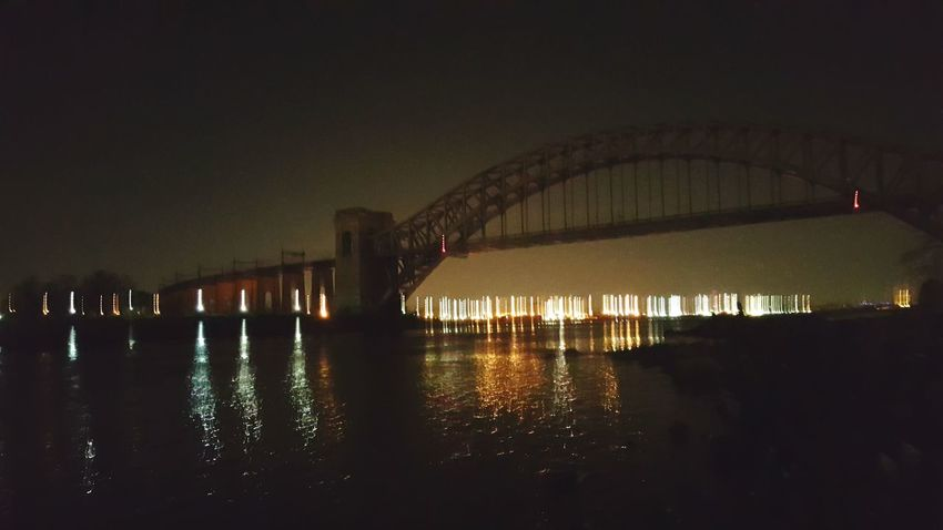 New York City City Lights Night Photography Light Trails Showcase: December Bokeh Lights Abandoned Places Bridge - Man Made Structure Hells Gate Bridge Showing Imperfection Silouette & Sky Manhattan Skyline Cities At Night Illuminated