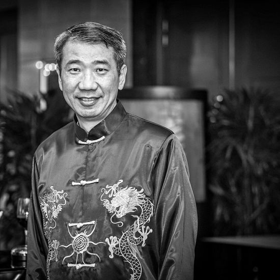 Dragon Chap Blackandwhite Chinese Happy People singapore Old Man
