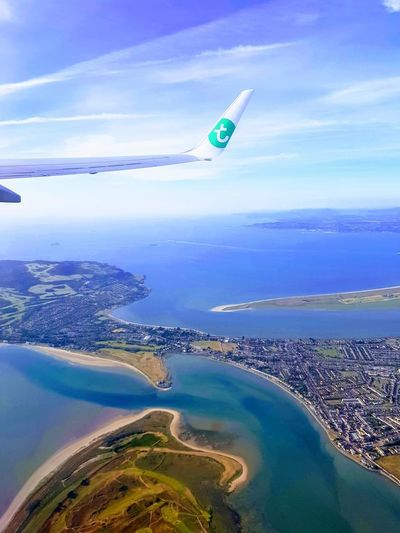 Taking off in Dublin, flying over Howth Howth Howth Harbour Dublin Howth Head Howth Cliff Walk Dublin Dublin, Ireland Dublin Bay Howth Dublin Ireland Ireland🍀 Ireland Landscapes Transavia Airplane Flying Sea Aerial View Adventure Mid-air Water Blue Beach RISK Aircraft Wing Airplane Wing