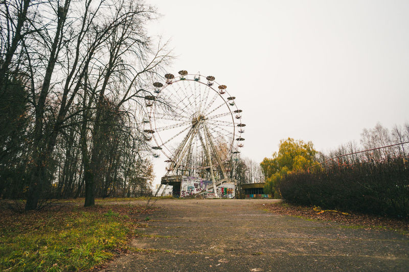 View of ferris wheel in park