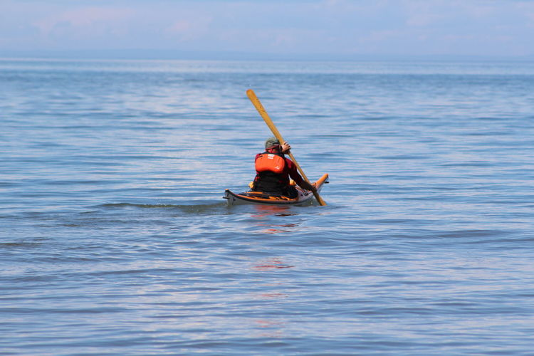 Boat Kayak Kayaking Lake Superior Leisure Activity Mode Of Transport Outdoors Vacations Water