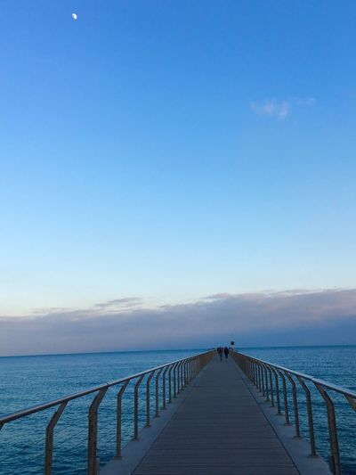 Sky Water Sea Scenics - Nature Beauty In Nature Tranquility Copy Space Built Structure Direction Pier Blue The Way Forward Idyllic Horizon Nature Railing Tranquil Scene Architecture Outdoors Horizon Over Water