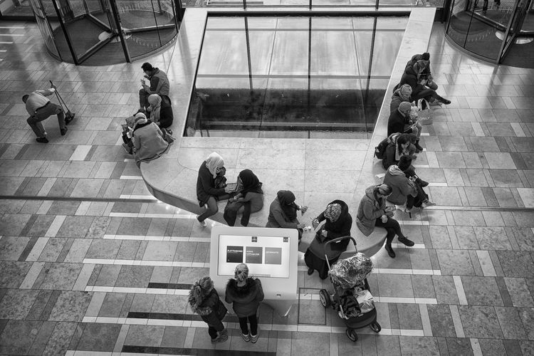 The Cleaner Cleaner Hoog Catharijne Shopping Center Adult Architecture Blackandwhite Day High Angle View Indoors  Large Group Of People Lifestyles Men People Real People Shopping Mall Utrecht Women
