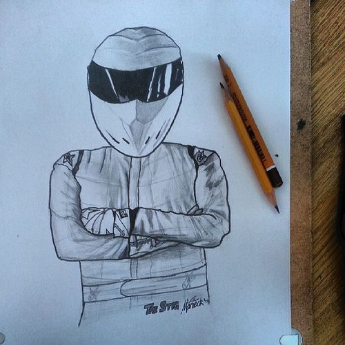 Today's drawing... The Stig :-D Stig TheStig Topgear Drawed Drawing