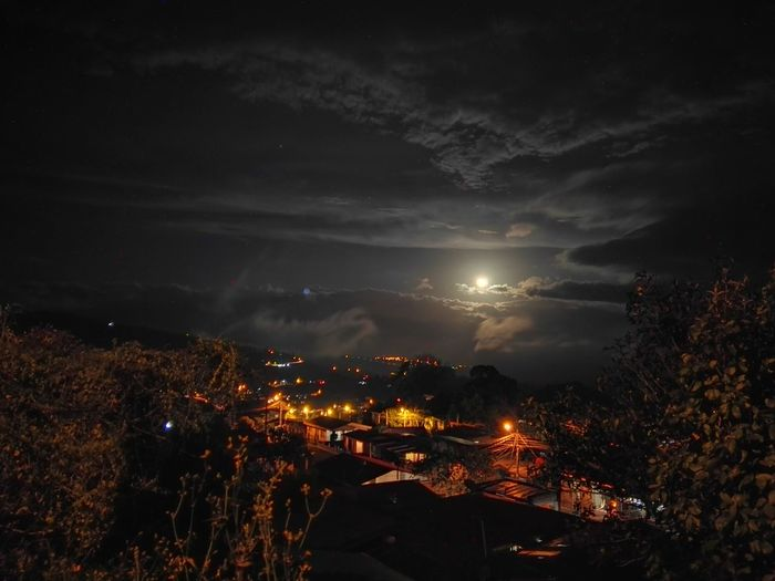 Landscape Night Outdoors Illuminated Moon Nature Cloud - Sky Tree Sky Nature_collection Amazing Place No People Astronomy