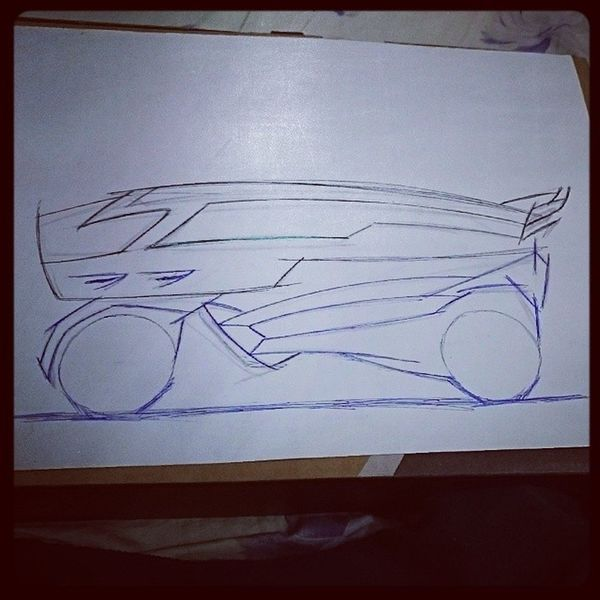 Everyday Sketch Rookie Scifi Inprocess conceptcar drawing