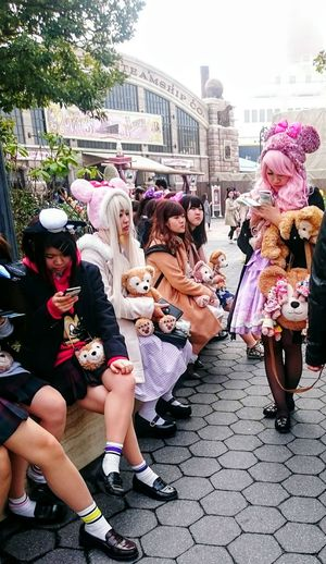Tokyo Tokyo Disney Sea Disney Land Japanese Culture Japanese Girls Pink School Uniform Feel The Journey Original Experiences Japanese Style Costume PartyGirl Power Waiting Smombies Pink Hair Cosplay Costume Wigs Duffy The Disney Bear Teddy Bear Stuffed Animals Ultimate Japan People And Places TakeoverContrast