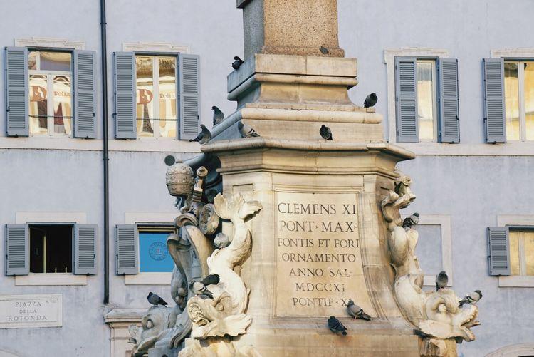 Monument at piazza della rotonda