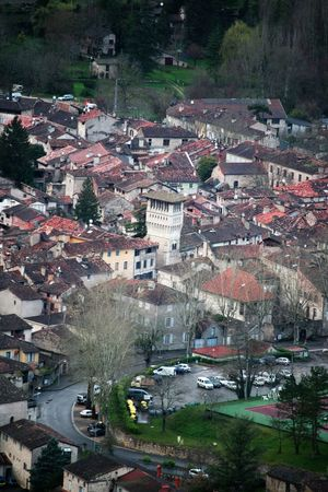 Saint-Antonin-Noble-Val, Tarn et Garonne, France Aerial View Architecture Building Exterior Built Structure City City Life Community Composition Crowded Day Exploring High Angle View House Human Settlement Landscape Of France Outdoors Part Of Perspective Residential District Residential Structure Roof Saint-antonin-noble-val, Tarn Et Garonne, France Top Perspective Town TOWNSCAPE