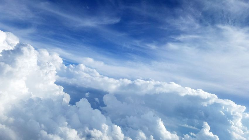 Clouds Cumulus Cloud Cloud - Sky Nature Blue Sky Rewilding Day Outdoors Flying Beauty In Nature Spirituality Heaven Copyspace Wind Cloudscape Cloud Tranquility Whitespace White Planet Earth Airplane Journey Weathet Breathing Space