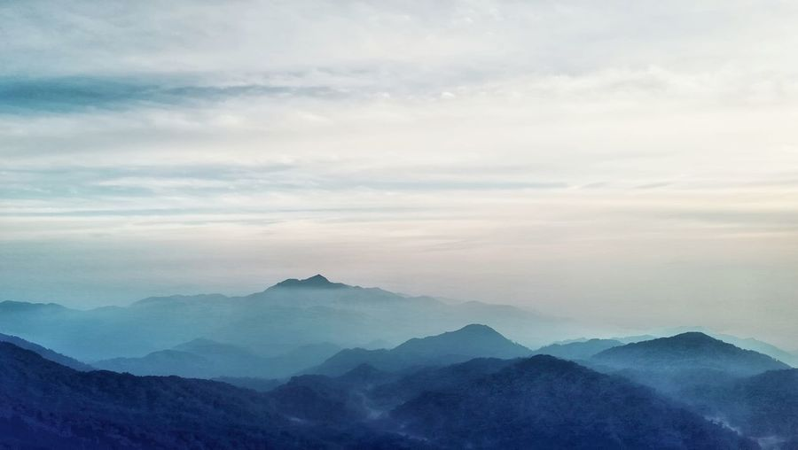 Genting highland Cloud - Sky Scenics - Nature Beauty In Nature Sky Mountain Tranquil Scene Tranquility Mountain Range Non-urban Scene Environment Idyllic Fog Landscape Majestic Nature No People Outdoors Remote Awe Mountain Peak Hazy
