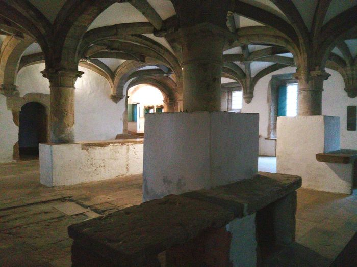 The kitchen of Convento de Cristo, Tomar. Religion Architecture Built Structure Indoors  Spirituality Portugal Topdestinations Holiday Relaxing Enjoying Life Topdestinos Arch Architectural Column No People Place Of Worship Day