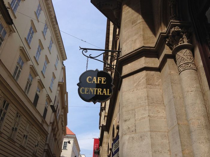 Building Exterior Cafe Central City Clear Sky No People Sign Text Viena, Austria