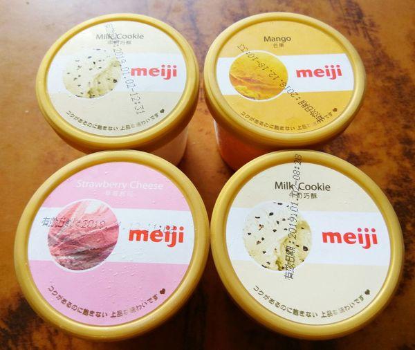 聽說今天是立秋… Meiji Icecream MilkCookie Strawberrycheese Mango MeijiIceCream アイスクリーム 立秋 明治冰淇淋 牛奶巧酥 草莓起司 芒果 冰淇淋 明治