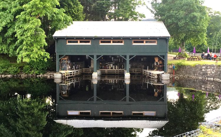 The boathouse lochside restaurant, Loch Ness Restaurant Lochside Water Water Reflections