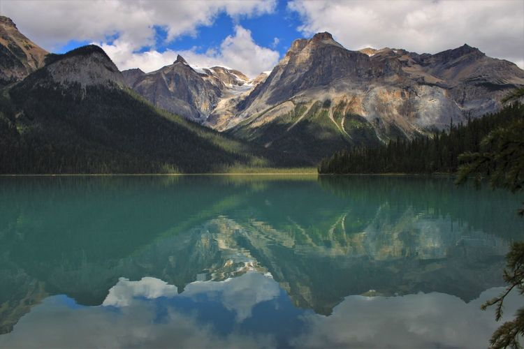 Meditations Reflection Tranquility Water Mountain Tree Snow Lake Forest Hiking Wilderness Mountain Peak Pinaceae Turquoise Colored Rocky Mountains Idyllic Snowcapped Mountain Calm