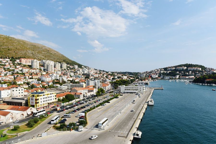 City Cityscape Sea Beach Architecture Business Finance And Industry Town Outdoors Aerial View Building Exterior Cloud - Sky Sky Day No People Vacations Summer Travel Destinations Landscape Community Water Harbor View Dubrovnik Dubrovnik, Croatia Croatia ♡ Harbor