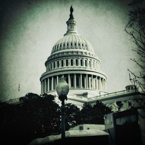 My View Of The Capital Building At The 57th Presidential Inauguration