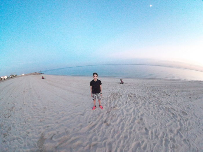 EyeEm Selects Beach Sand Full Length FootPrint One Person Sea Clear Sky Outdoors Blue People Day Tranquility Sky Sand Dune One Man Only Landscape Horizon Over Water Adult Only Men Wave maro