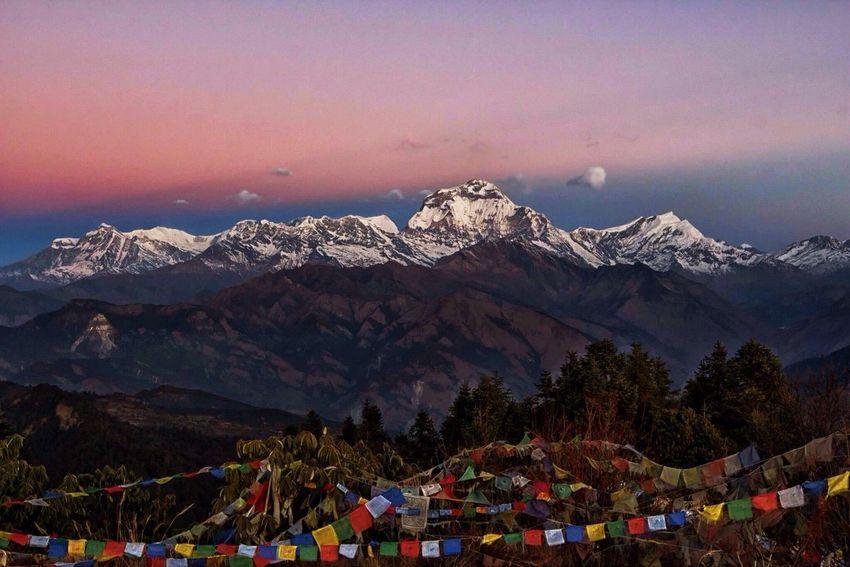 Glimpse of sunrise over Annapurna range, Nepal Amazing View Landscape Skyporn Mountains Edge Of The World The Tourist