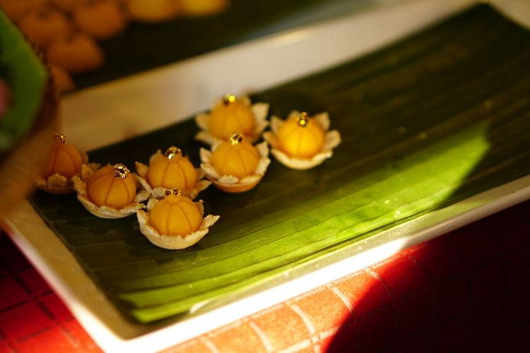 จ่ามงกุฏ Thai Dessert Thai Dessert Style Golden Crown No People Flower Freshness Indoors  Close-up Food Nature Day