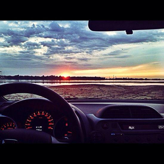 Car Relaxing Nature Sunset Biutiful My World oooowww)))