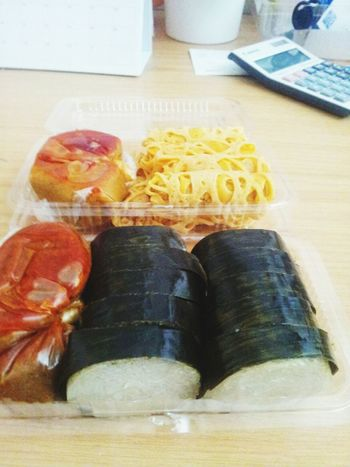 Show Us Your Takeaway! Food Photography Eat Eat And Eat Foodpics Foodstagram Yummy Food Sarawak Food Food On The Go. ..Roti Jala,lemang with curry sauce.