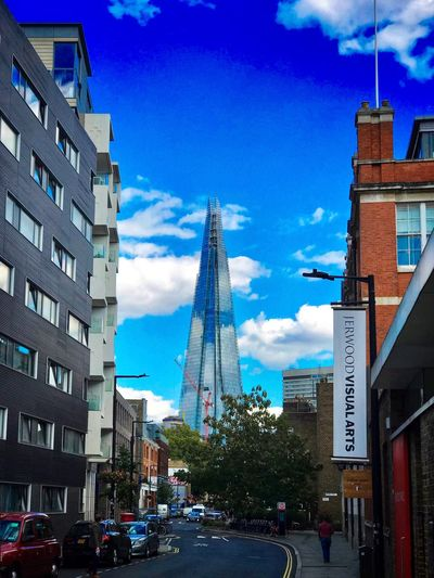 The Shard seen from Borough Street Photography Shot On IPhone Architecture Building Exterior Built Structure City Sky Transportation Motor Vehicle Building Cloud - Sky Tower Tall - High City Life Day City Street