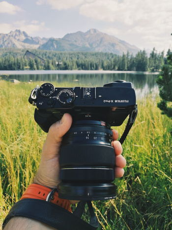 Štrbské pleso Photography Themes Camera - Photographic Equipment Photographing Digital Camera Human Hand Photographer Outdoors Digital Single-lens Reflex Camera Nature Mountain Fujifilm Strbske Pleso The Week On EyeEm