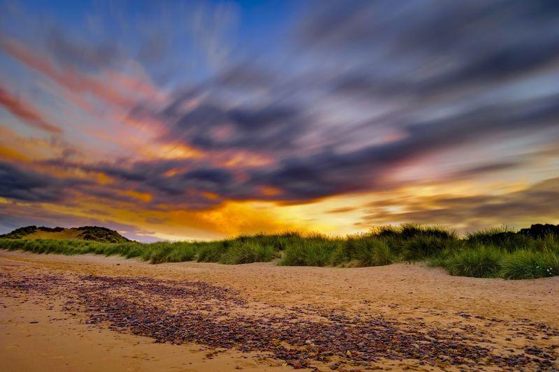 Sunset Scotland Long Exposure Fast Clouds Aberdeenshire