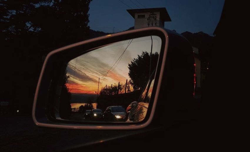 Sunset Car No People Outdoors Sky Day Luca Riva Lombardia, Italy Specchio Mirror Left Samsungphotography Samsung Galaxy Camera Samsung Samsung Photography Samsung Galaxy S8 S8 S8Photography S8 Collection S8 Galaxy S8 Photo Perspectives On Nature