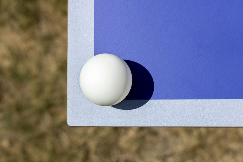 Close-up of table tennis table