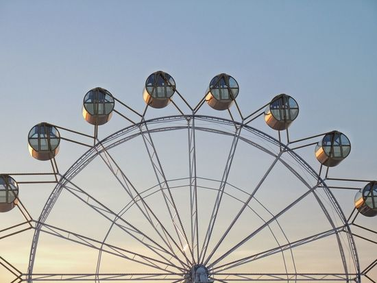 Adventure Amusement Park Arts Culture And Entertainment Balloon Circle Colorful Decoration Ferris Wheel Fun Hanging Lantern Large Low Angle View Multi Colored Occupation Outdoors Recreational Pursuit Sky Sport аттракцион зима колесообозрения небо сфера