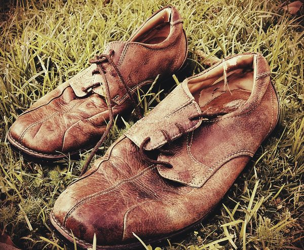 No People Day Outdoors Shoes OldShoes Brown High Angle View Sand Nature Close-up