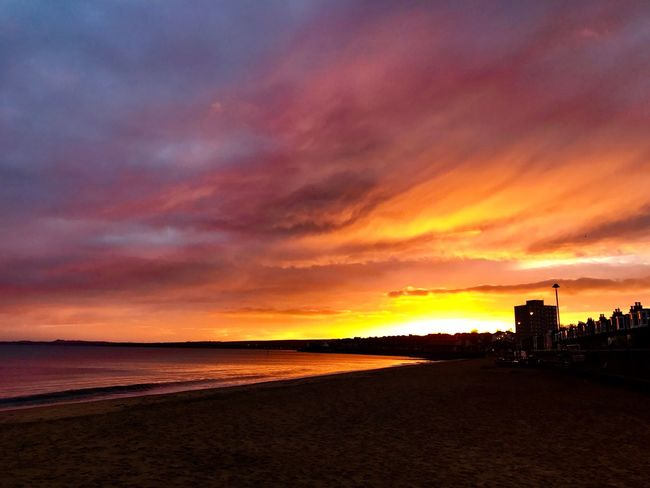 Cloud - Sky Tranquility Beauty In Nature Portobello Beach, Edinburgh Sunset #sun #clouds #skylovers #sky #nature #beautifulinnature #naturalbeauty #photography #landscape The Week On EyeEm