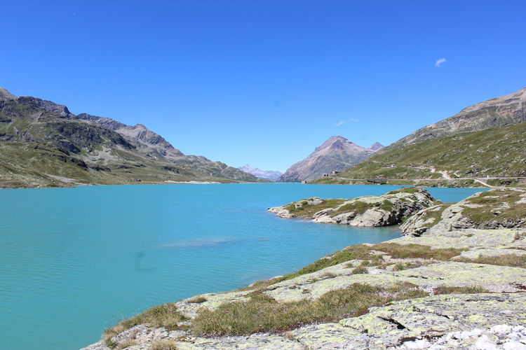 Bernina Pass, Switzerland Adventure Blue Sky Hiking Lake Lake View Landscape Mountain Nature Panorama Rock Switzerland Trip