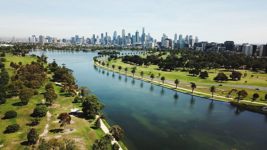 Albert Park Lake Australian Landscape Drone  High Angle View Lakeside Aerial Exceptional Photographs Landscape Lake Australia Melbourne Water Building Exterior Architecture Built Structure City Sky Nature Office Building Exterior Urban Skyline Day Skyscraper Modern Plant Cityscape Building Tree River Outdoors No People Transportation