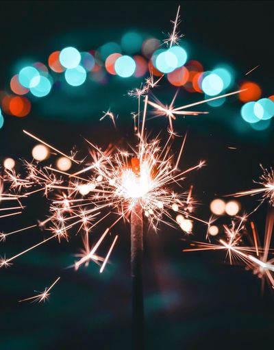 Close-Up Of Sparkler At Night