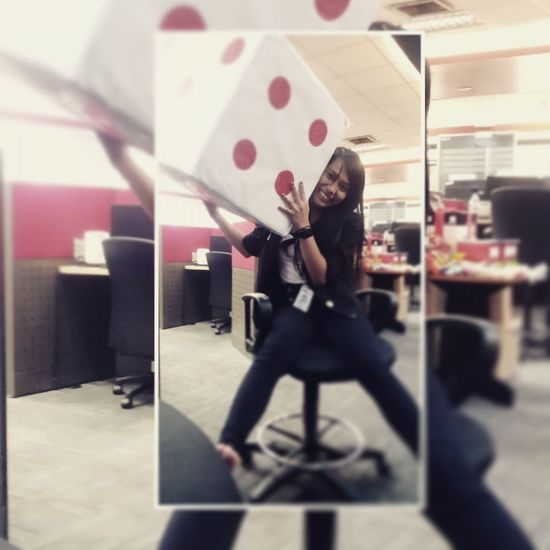 because i got a 5, i got the chance to roll that big dice! yey! Funatwork Happiness ♡ Childish‼️👌 LoveLove♥