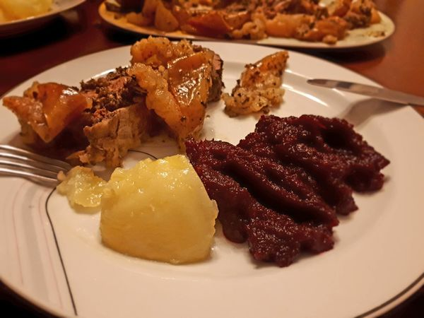 Food Plate Food And Drink Ready-to-eat No People Indoors  Meat Close-up Kolacja Obiad Dinner Lunch Mięso żarcie Jedzenie Ges Goose
