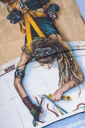 Streetart by @whoamirony Streetart/graffiti Street Photography Streetphotography StreetArtEverywhere Graffiti Art Graffiti Mural Mural Art Bristol, England Bristol England🇬🇧 Enjoying Life England Upfest Climbing