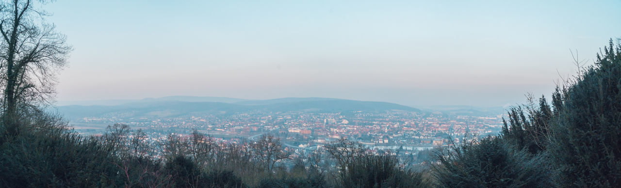 Hameln Panorama cityscapes Cold Day Fog High Angle View Outdoors Sunset
