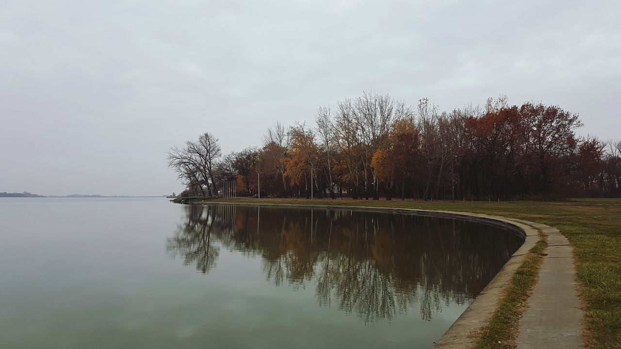 tree, nature, tranquil scene, reflection, tranquility, beauty in nature, scenics, water, sky, outdoors, autumn, no people, lake, day, landscape