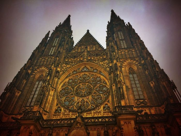 Prague Czech Republic Architecture Belief Building Building Exterior Built Structure Gothic Style History Low Angle View Nature No People Religion Sky Spire  Spirituality The Past Tower Travel Destinations