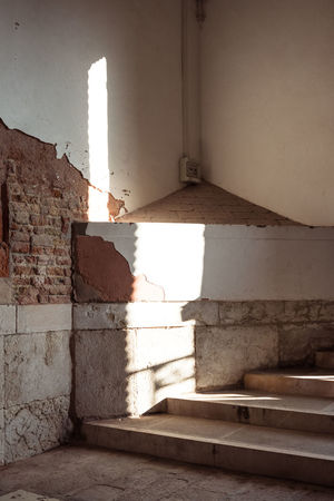 Abandoned Absence Architecture Building Built Structure Day Empty History Indoors  Nature No People Old Shadow Staircase Sunlight Venice Wall Wall - Building Feature Window